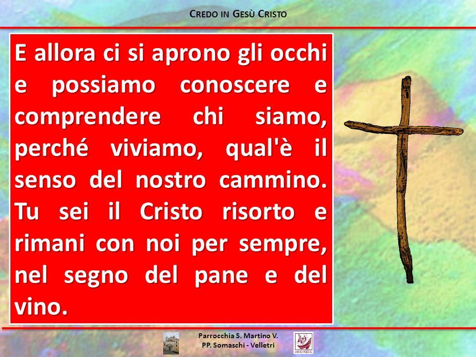 Parrocchia S. Martino V. PP. Somaschi - Velletri E allora ci si aprono gli occhi e possiamo conoscere e comprendere chi siamo, perché viviamo, qual'è