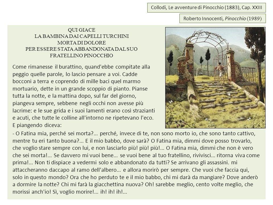 Roberto Innocenti, Pinocchio (1989) Collodi, Le avventure di Pinocchio (1883), Cap. XXIII QUI GIACE LA BAMBINA DAI CAPELLI TURCHINI MORTA DI DOLORE PE
