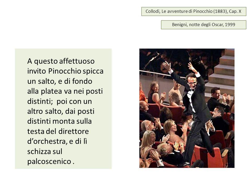 Collodi, Le avventure di Pinocchio (1883), Cap. X A questo affettuoso invito Pinocchio spicca un salto, e di fondo alla platea va nei posti distinti;