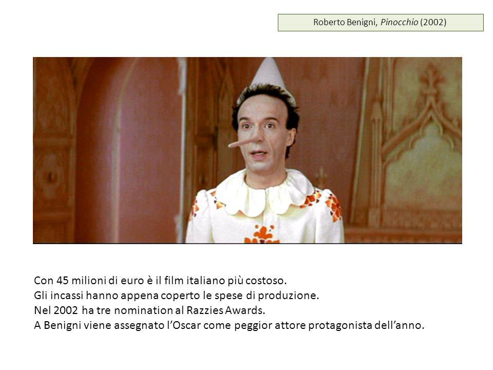 Roberto Benigni, Pinocchio (2002) Con 45 milioni di euro è il film italiano più costoso. Gli incassi hanno appena coperto le spese di produzione. Nel