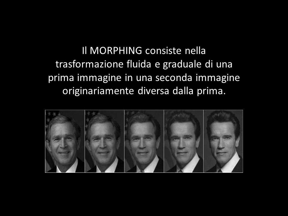 Il MORPHING consiste nella trasformazione fluida e graduale di una prima immagine in una seconda immagine originariamente diversa dalla prima.