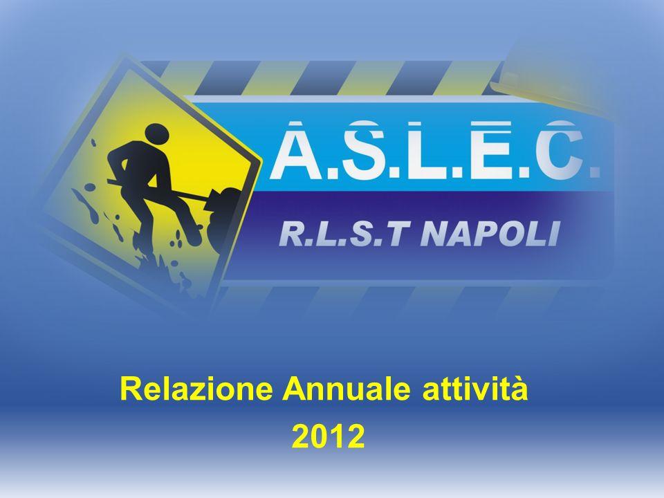 Relazione Annuale attività 2012