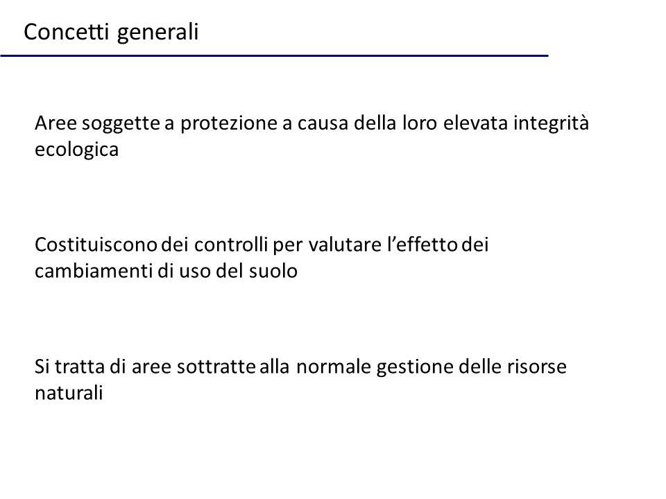 Il sistema delle aree protette italiano Aree protette numerose ma assenza di coordinamento nazionale e regionale serio Numerosi tipi di aree soggette a restrizioni diverse Ridotta integrazione: economia-conservazione