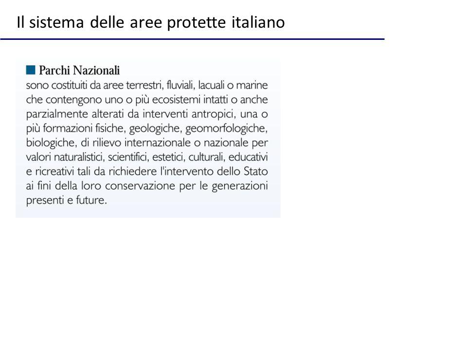 Il sistema delle aree protette italiano