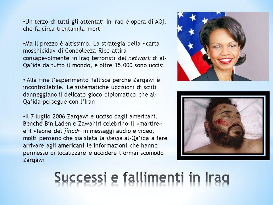 Un terzo di tutti gli attentati in Iraq è opera di AQI, che fa circa trentamila morti Ma il prezzo è altissimo. La strategia della «carta moschicida»