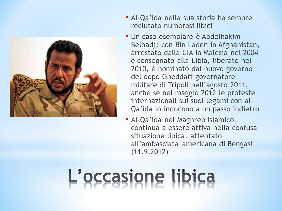 Al-Qaida nella sua storia ha sempre reclutato numerosi libici Un caso esemplare è Abdelhakim Belhadj: con Bin Laden in Afghanistan, arrestato dalla CI