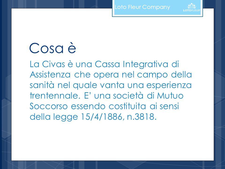 Cosa è La Civas è una Cassa Integrativa di Assistenza che opera nel campo della sanità nel quale vanta una esperienza trentennale. E una società di Mu