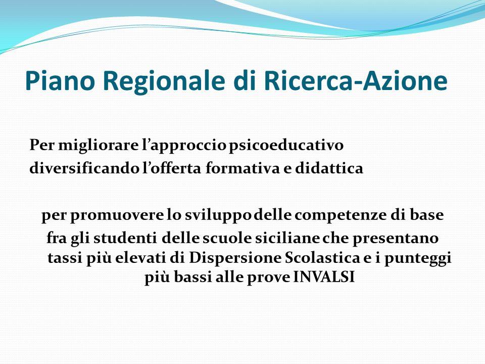 Piano Regionale di Ricerca-Azione Per migliorare lapproccio psicoeducativo diversificando lofferta formativa e didattica per promuovere lo sviluppo de