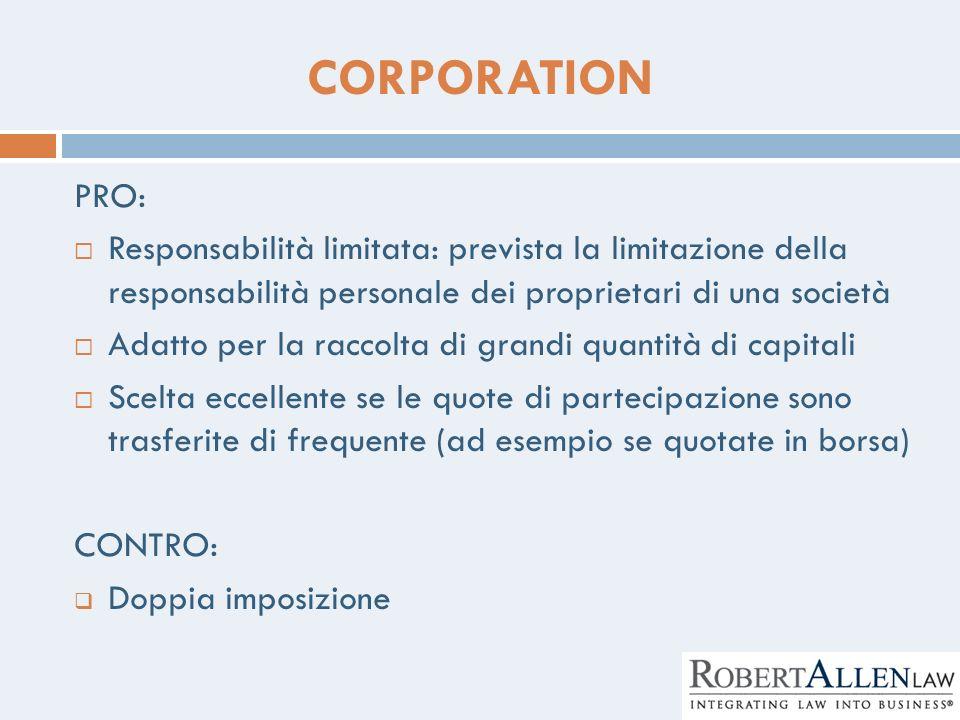 CORPORATION PRO: Responsabilità limitata: prevista la limitazione della responsabilità personale dei proprietari di una società Adatto per la raccolta