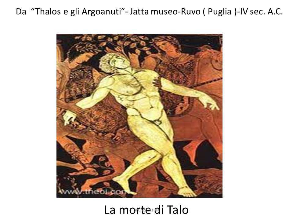 Da Thalos e gli Argoanuti- Jatta museo-Ruvo ( Puglia )-IV sec. A.C. La morte di Talo Bruno Casula