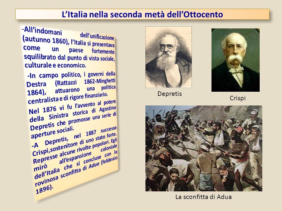 LItalia nella seconda metà dellOttocento Depretis Crispi La sconfitta di Adua