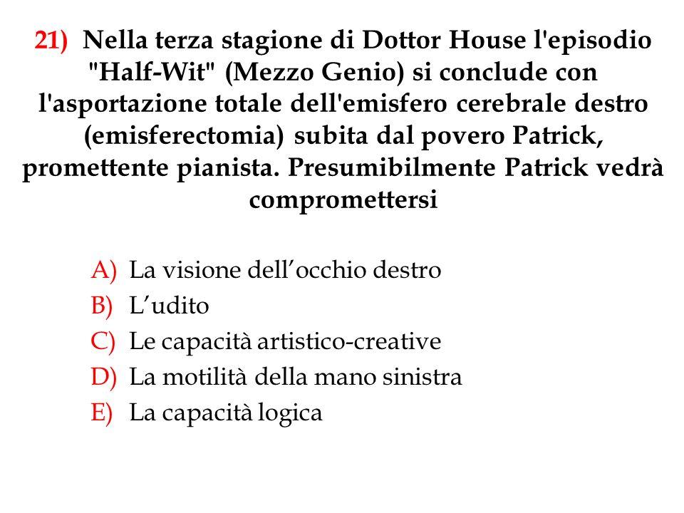 21) Nella terza stagione di Dottor House l'episodio