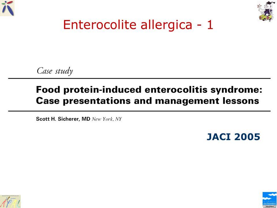 Enterocolite allergica - 1 JACI 2005