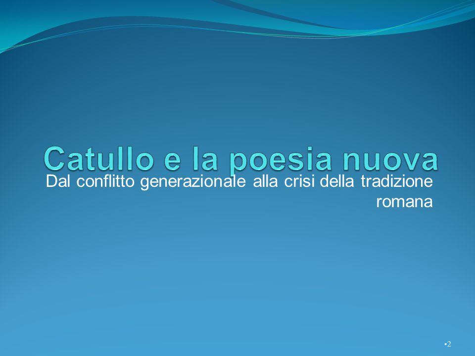 Facendo della poesia e dellamore le sue uniche occupazioni, Gaio Valerio Catullo ha stravolto il modello di buon cittadino che la tradizione romana difendeva accanitamente.