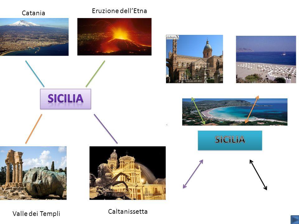 Catania Valle dei Templi Caltanissetta Eruzione dellEtna