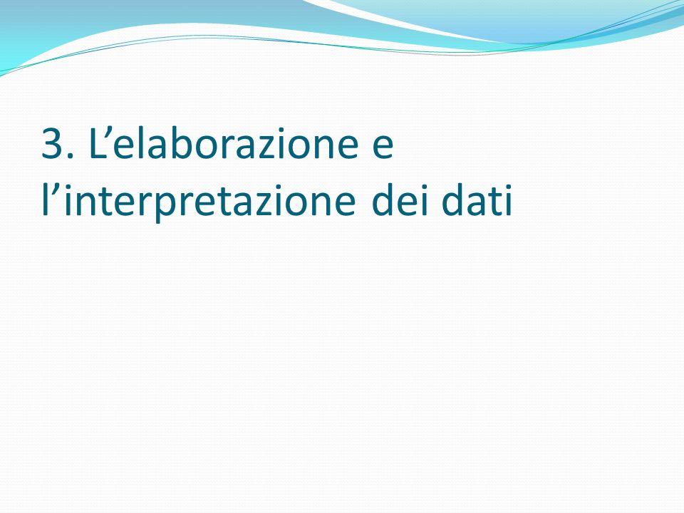 3. Lelaborazione e linterpretazione dei dati