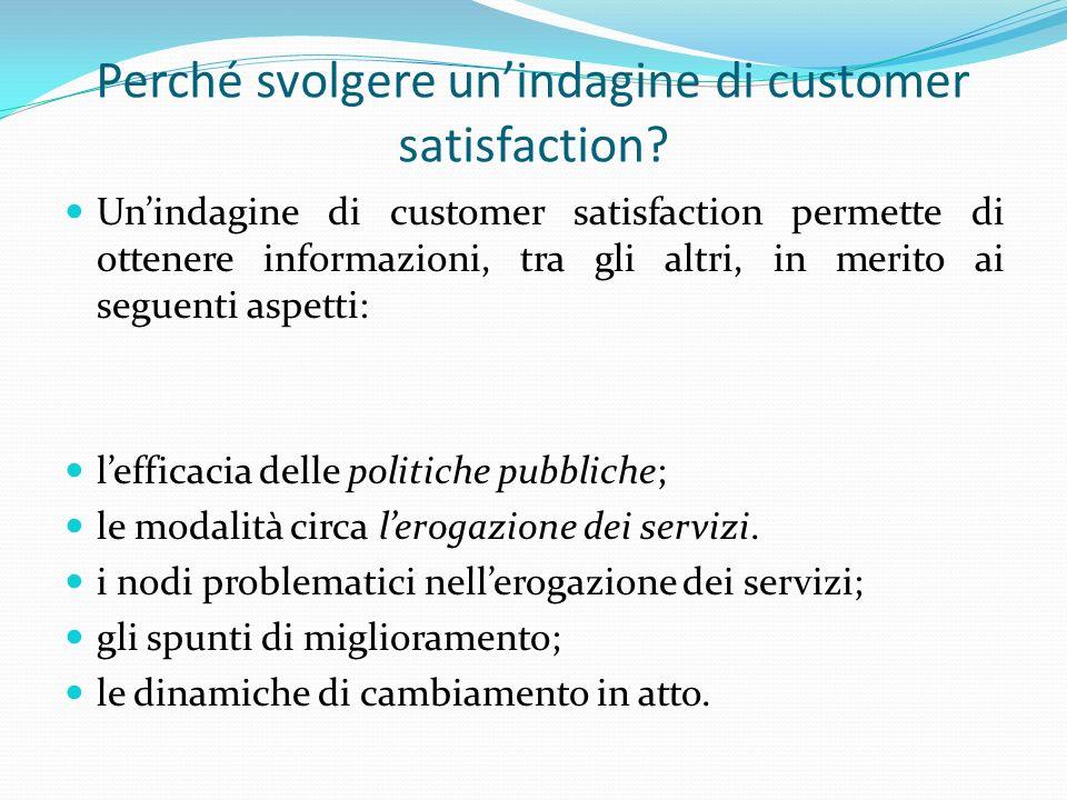 Le fasi dellanalisi della soddisfazione degli utenti - Mutua dalla metodologia della ricerca sociale Fonte: Trobia (2010)