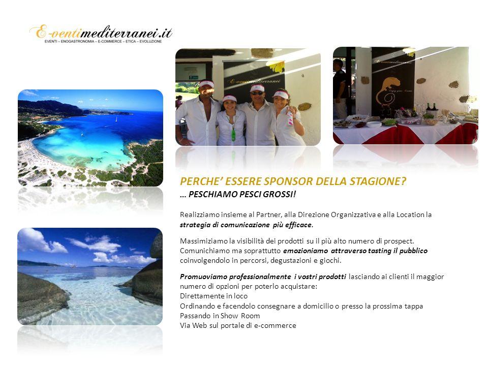 Banco degustazione interno per Premiazione Premiazione con i prodotti dello Sponsor PERCHE ESSERE SPONSOR DELLA STAGIONE.