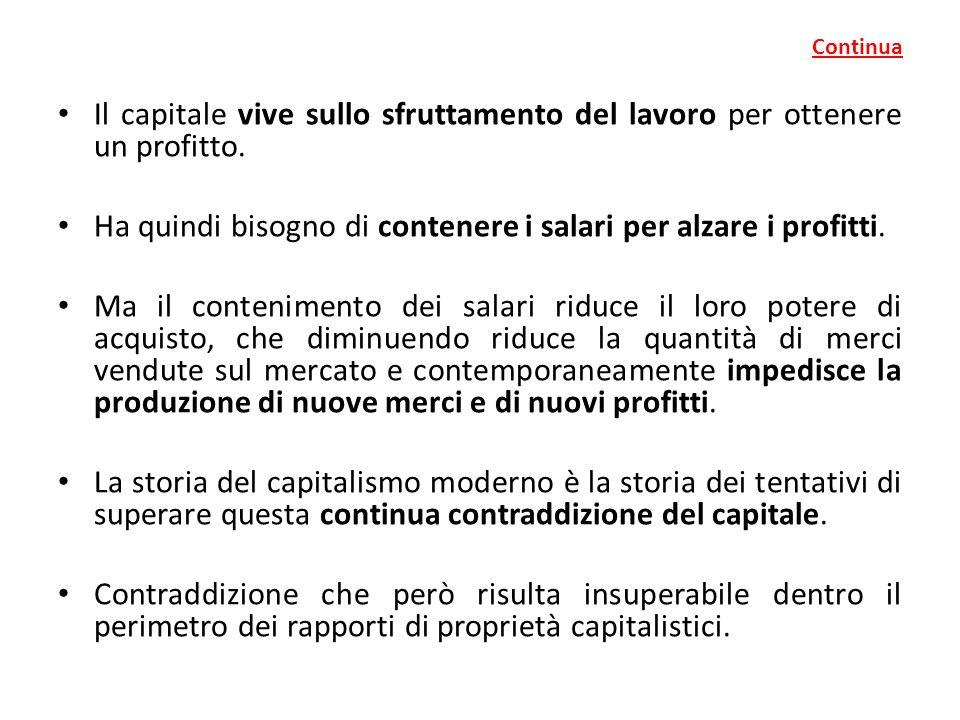 Continua Il capitale vive sullo sfruttamento del lavoro per ottenere un profitto.