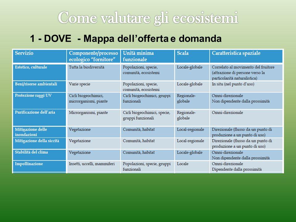 1 - DOVE - Mappa dellofferta e domanda