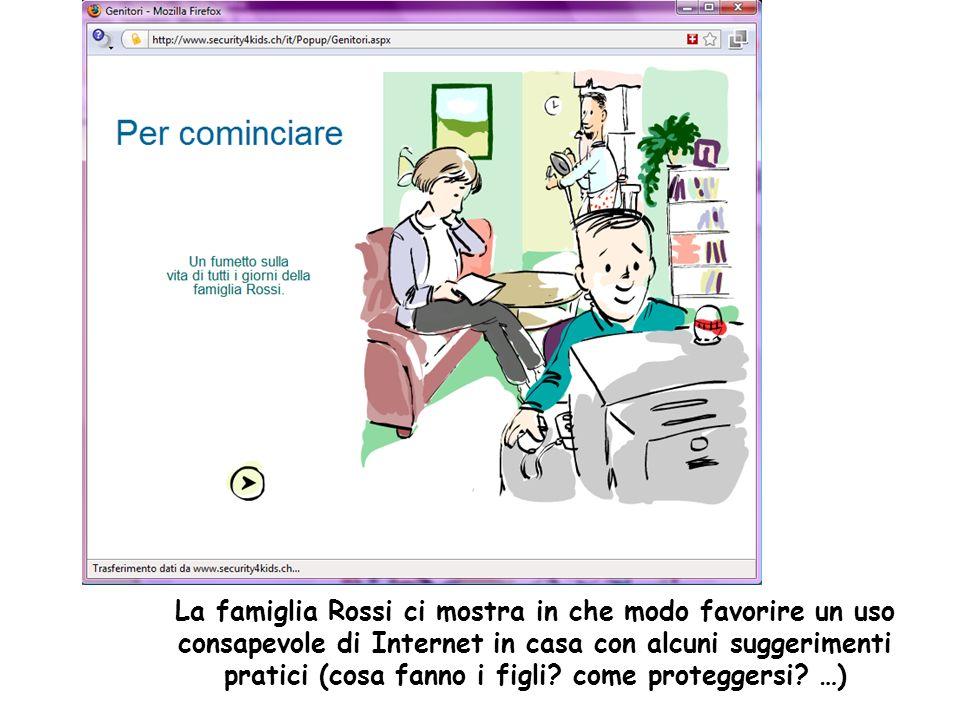 La famiglia Rossi ci mostra in che modo favorire un uso consapevole di Internet in casa con alcuni suggerimenti pratici (cosa fanno i figli.