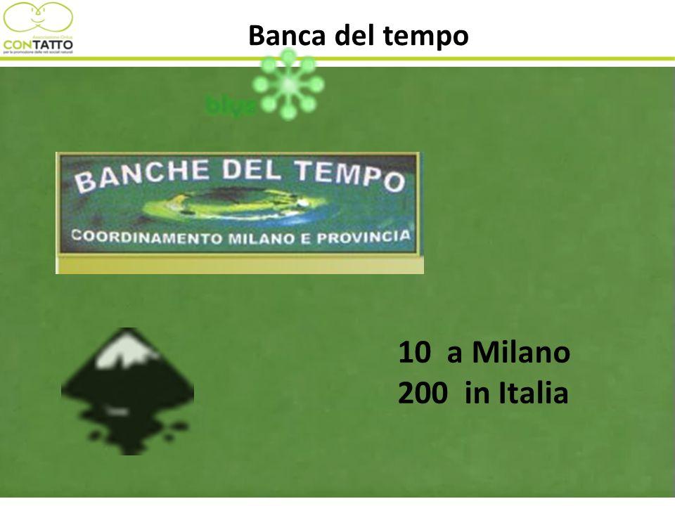 Banca del tempo 10 a Milano 200 in Italia