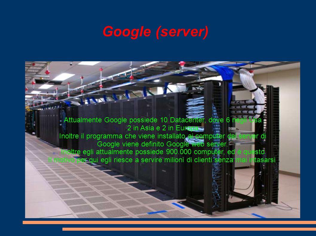Ricercacon Google Inltre le varie ricerche su google si basano sul posizionamento Delle parole chiave, infatti, infatti ogni codice di parole cor- Risponde a determinati link.