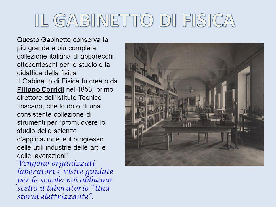 Questo Gabinetto conserva la più grande e più completa collezione italiana di apparecchi ottocenteschi per lo studio e la didattica della fisica. Il G