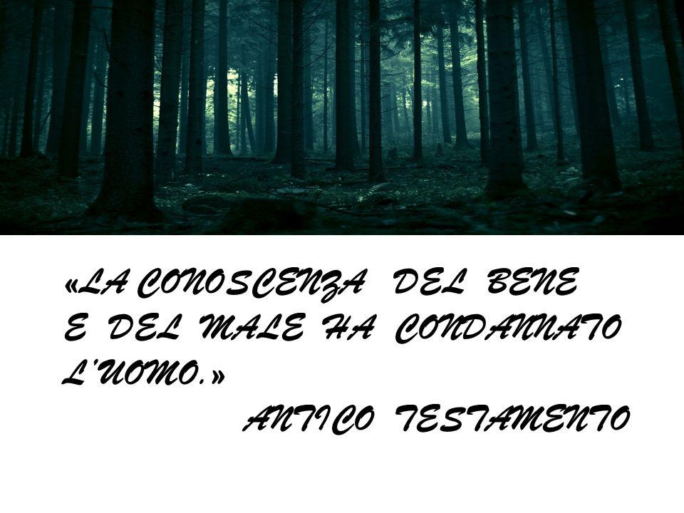 «Io non maledirò più la terra a cagione delluomo, poiché i disegni del cuor delluomo sono malvagi fin dalla sua fanciullezza; e non colpirò più ogni c