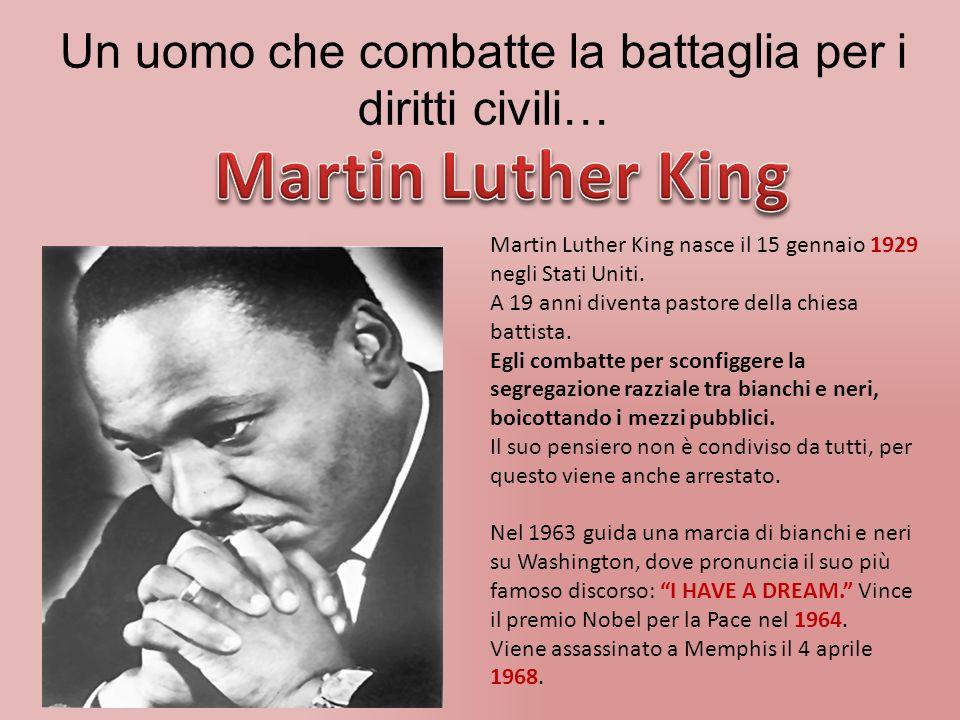Un uomo che combatte la battaglia per i diritti civili… Martin Luther King nasce il 15 gennaio 1929 negli Stati Uniti.