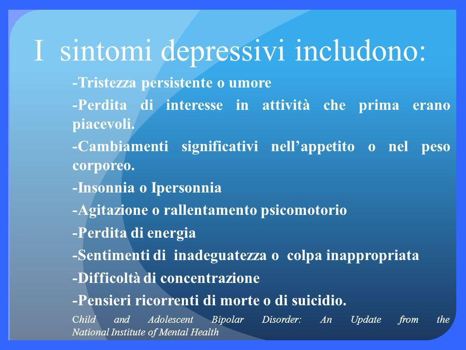 I sintomi maniacali comprendono:. -Energia aumentata -Diminuito bisogno di sonno, possibilità di dormire molto poco o additìrittura non dormire per ni
