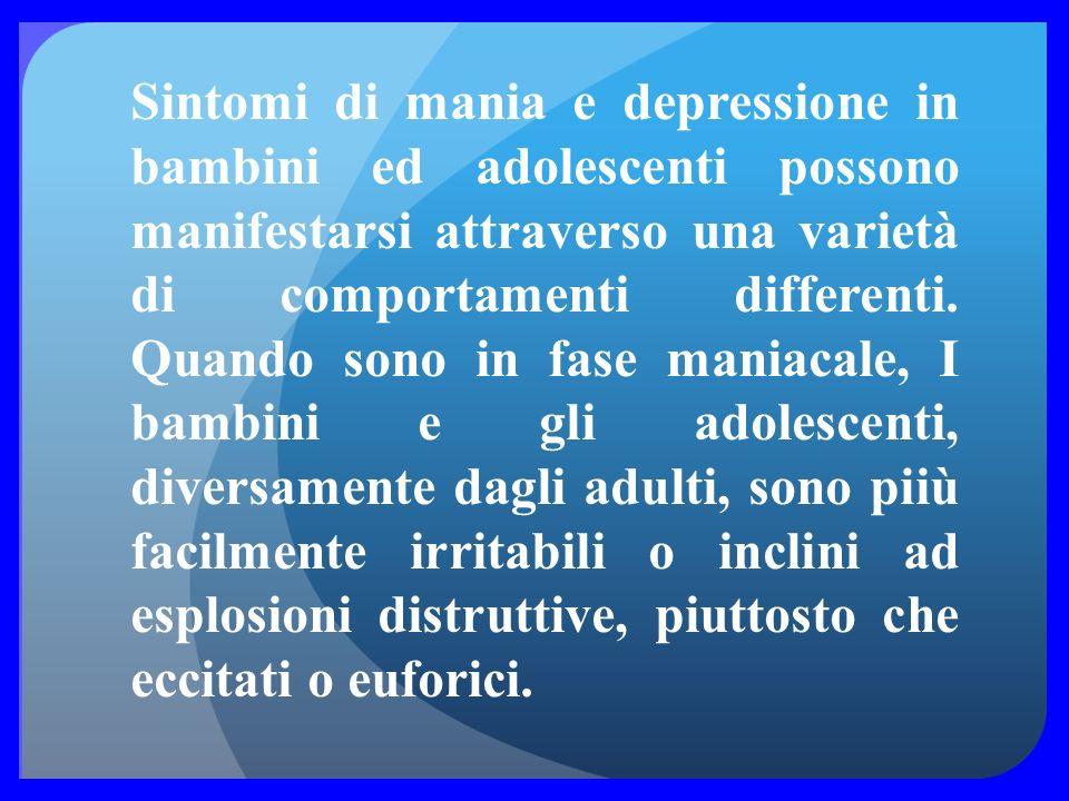 I sintomi depressivi includono: -Tristezza persistente o umore -Perdita di interesse in attività che prima erano piacevoli. -Cambiamenti significativi