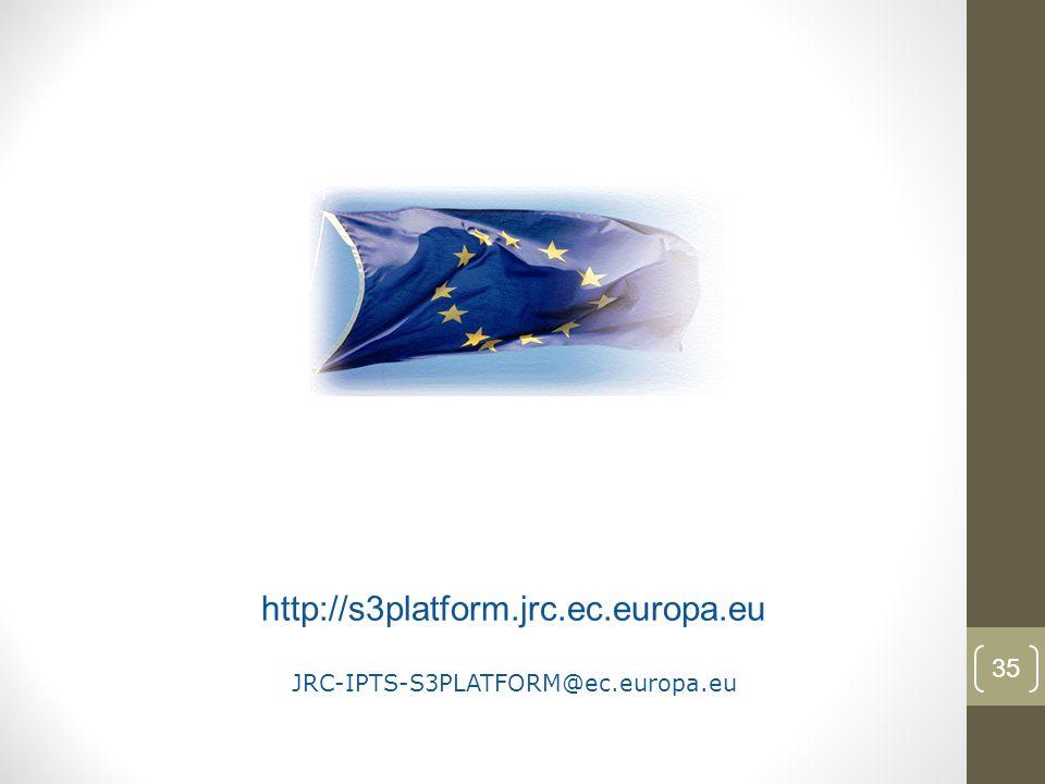 35 http://s3platform.jrc.ec.europa.eu JRC-IPTS-S3PLATFORM@ec.europa.eu