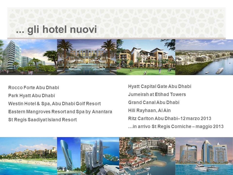 ... gli hotel nuovi Rocco Forte Abu Dhabi Park Hyatt Abu Dhabi Westin Hotel & Spa, Abu Dhabi Golf Resort Eastern Mangroves Resort and Spa by Anantara