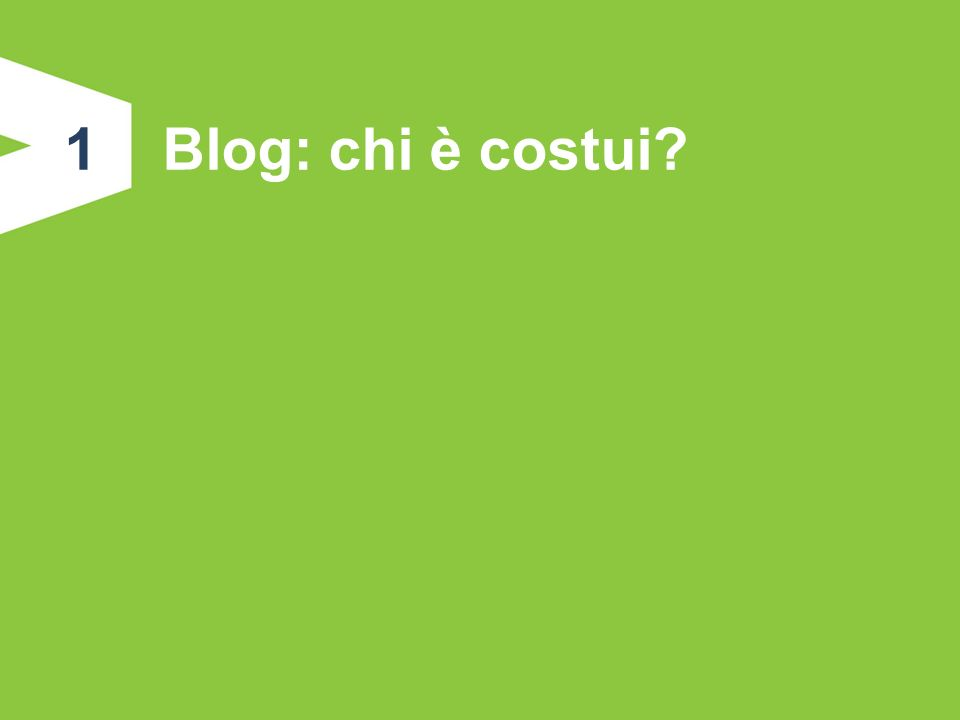 1.Blog: chi è costui.