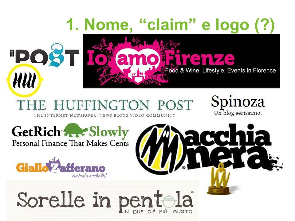 1. Nome, claim e logo (?)