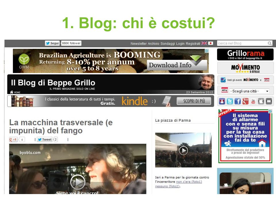 1.Blog: chi è costui. Tipi di blog.
