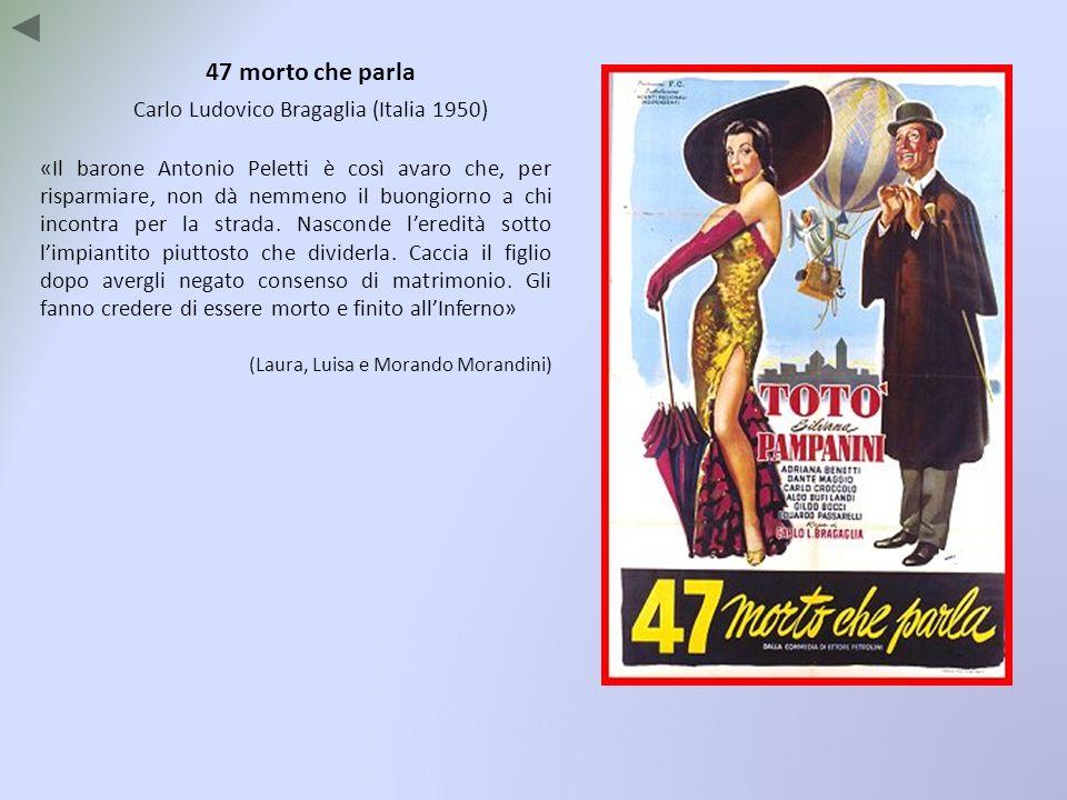 47 morto che parla Carlo Ludovico Bragaglia (Italia 1950) «Il barone Antonio Peletti è così avaro che, per risparmiare, non dà nemmeno il buongiorno a