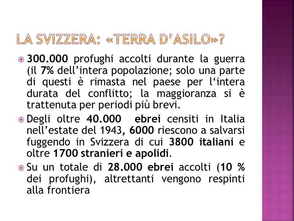300.000 profughi accolti durante la guerra (il 7% dellintera popolazione; solo una parte di questi è rimasta nel paese per lintera durata del conflitt