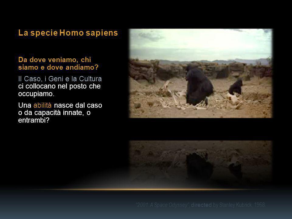 La specie Homo sapiens Da dove veniamo, chi siamo e dove andiamo.