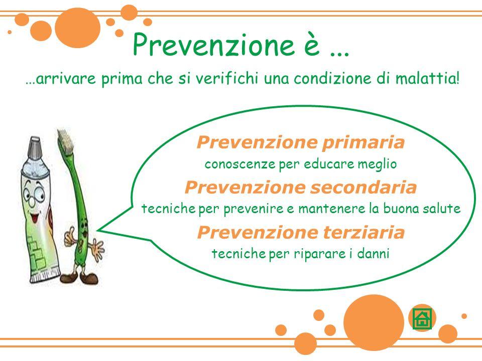 Prevenzione è...…arrivare prima che si verifichi una condizione di malattia.