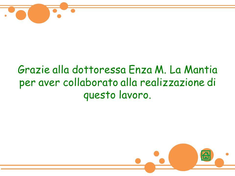 Grazie alla dottoressa Enza M. La Mantia per aver collaborato alla realizzazione di questo lavoro.