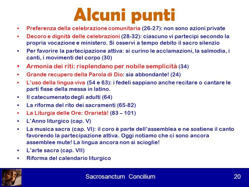 Corso per lettori 1° Intervento Revisione dei libri liturgici Sacrosanctum concilium 25 25.