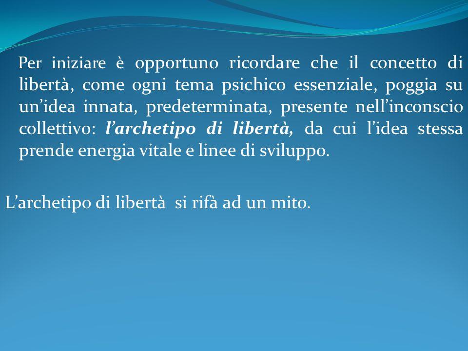 Larchetipo mitologico identifica il concetto di libertà con lantico dio italico Liber, chiamato in seguito Bacco.