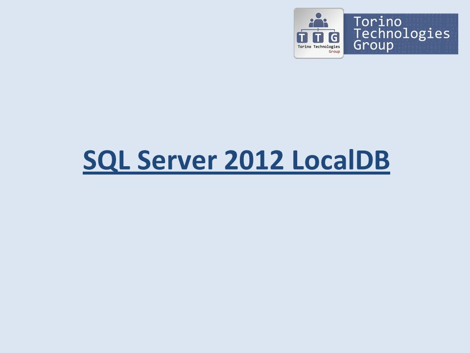 Agenda Presentazione; LocalDB; LocalDB vs SQL Server Express; Gestione LocalDB Demo;
