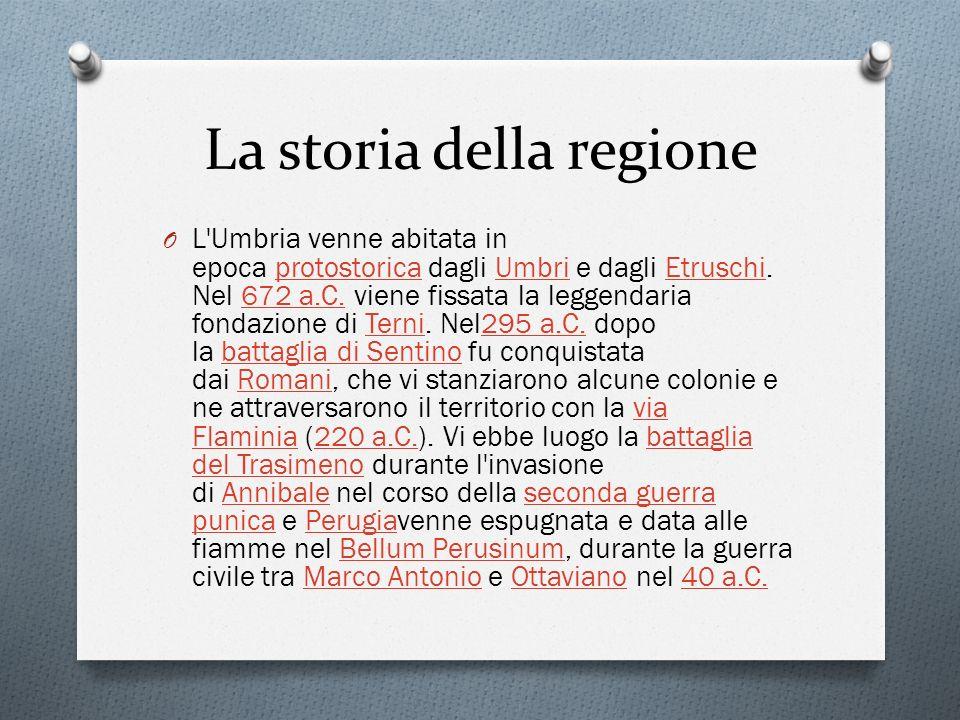 Province Le province sono due: Perugia, che occupa i due terzi della regione e ne è il capoluogo, e Terni.