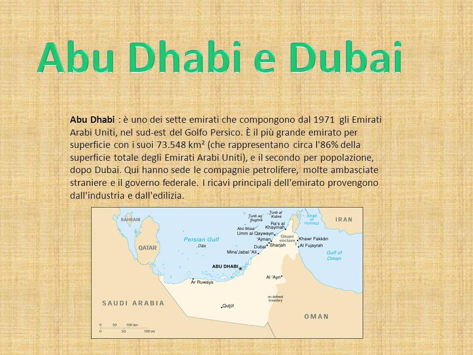 ECONOMIA: L economia dell emirato si basa quasi esclusivamente sull industria petrolifera, sfruttando i suoi giacimenti scoperti nel 1959.