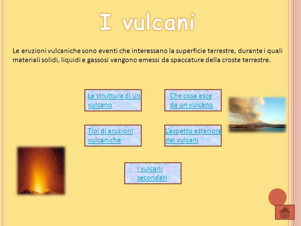 Le eruzioni vulcaniche sono eventi che interessano la superficie terrestre, durante i quali materiali solidi, liquidi e gassosi vengono emessi da spac