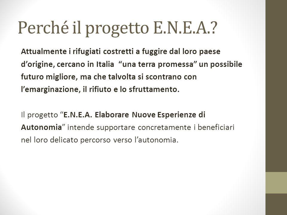 Perché il progetto E.N.E.A.? Attualmente i rifugiati costretti a fuggire dal loro paese dorigine, cercano in Italia una terra promessa un possibile fu