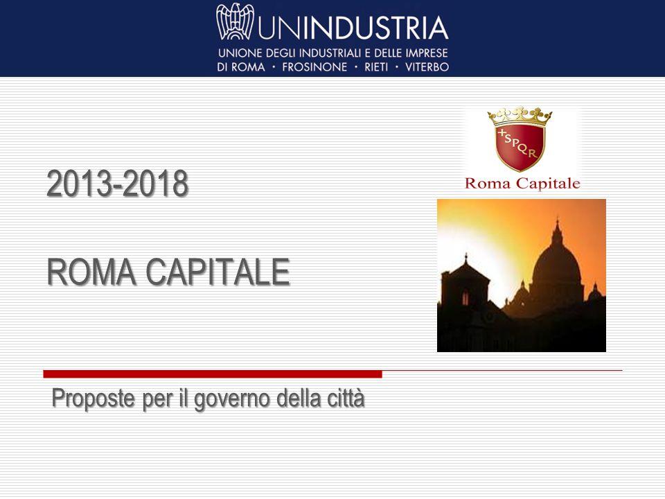 2013-2018 ROMA CAPITALE Proposte per il governo della città